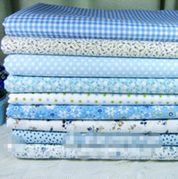 Wholesale Free Ship Free Gift cm piece Handmade diy cotton cloth pure cotton fabric neadend polka dot plaid cotton fabric