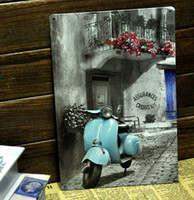 Metal Yes Antique Imitation [ Mike86 ] Vintage Blue motorcylce Metal signs wall decor Office Bar Metal Painting art B-138 Mix order 20*30 CM Free Shipping