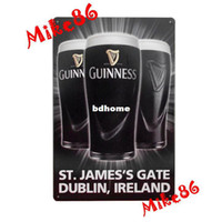 Metal Yes Antique Imitation [ Mike86 ] Guinness ST. JAMES 'S Gate DUBLIN Metal signs Art wall decor House Cafe Metal Paintings B-28 Mix order 20*30 CM