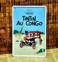 Metal Yes Antique Imitation [ Mike86 ] TINTIN AU CONGO Tin sign Art wall decor Retro Cafe Bar Vintage Metal signs A-328 Mix order 20*30 CM Free Shipping