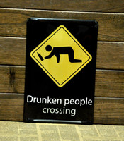 Metal Yes Antique Imitation [ Mike86 ] Drunken people Crossing Tin sign Art wall decor House Cafe Bar Vintage Metal signs A-52 Mix order 20*30 CM