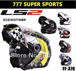 Wholesale Hot Sales Colors Genuine Motorcycle Helmet Capacete Casco Flip Up Modular Helmets Double Lens Protective Gears LS2 FF370