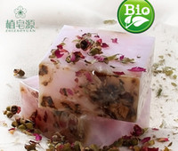 Cheap High Quality 100% Pure Nature Roseleaf Essential oil Genuine Thin skin Soap Rose Soap Thin Face Handmade Soap Deep Cleansing Anti-aging 100g