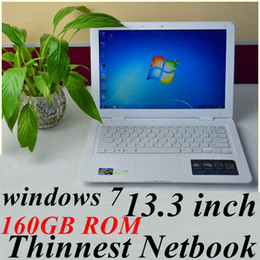Wholesale JW Free DHL inch notebook Intel Atom D2500 Dual core Ghz Netbook with windows system GB RAM GB ROM MP Camera laptop computer