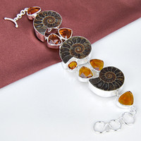 ammonite fossil natural gemstone 925 silver 2014 popular bra...