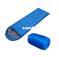 Cheap 2013 NEW ! Envelope 210*75CM 3 Season Outdoor Hiking sleep bag for Camping sleeping bag & Red,Blue,orange,green,purple