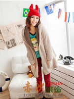 Wholesale Quality girls hats Little devil horns knitted hat by honestgirl09