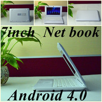 Wholesale JW Free DHL quot inch mini notebook VIA8850 Dual core Ghz Netbook computer android GB RAM GB ROM laptop netbook computer