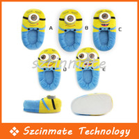 Wholesale pairs styles Despicable Me Minions Plush Stuffed Slippers Cuddly Fluffy Collectible Jorge Dave Stewart inch