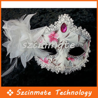 Wholesale Festivals Leather Side Flower Mask Party Mask