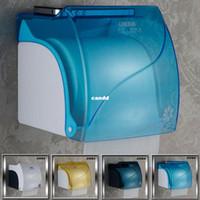 Wholesale Freesipping hot Dieba fashion bathroom waterproof toilet paper box transparent plastic roll tissue box holder