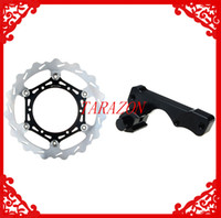 Cheap New Oversize 270 Front Brake Disc Rotor + Adaptor Bracket For YAMAHA WR 125 1998 1999 2000 2001 2002 2003 2004 2005 2006 2007
