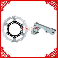 Cheap New Oversize 270 Front Brake Disc Rotor + Adaptor Bracket For YAMAHA YZ 125 1998 1999 2000 2001 2002 2003 2004 2005 2006 2007