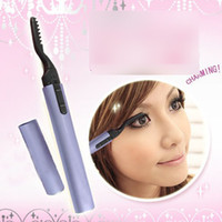 Wholesale New Portable Electric Heated Eyelash Curler Eye Lashes Mini Pen Make Up Tools onetouch
