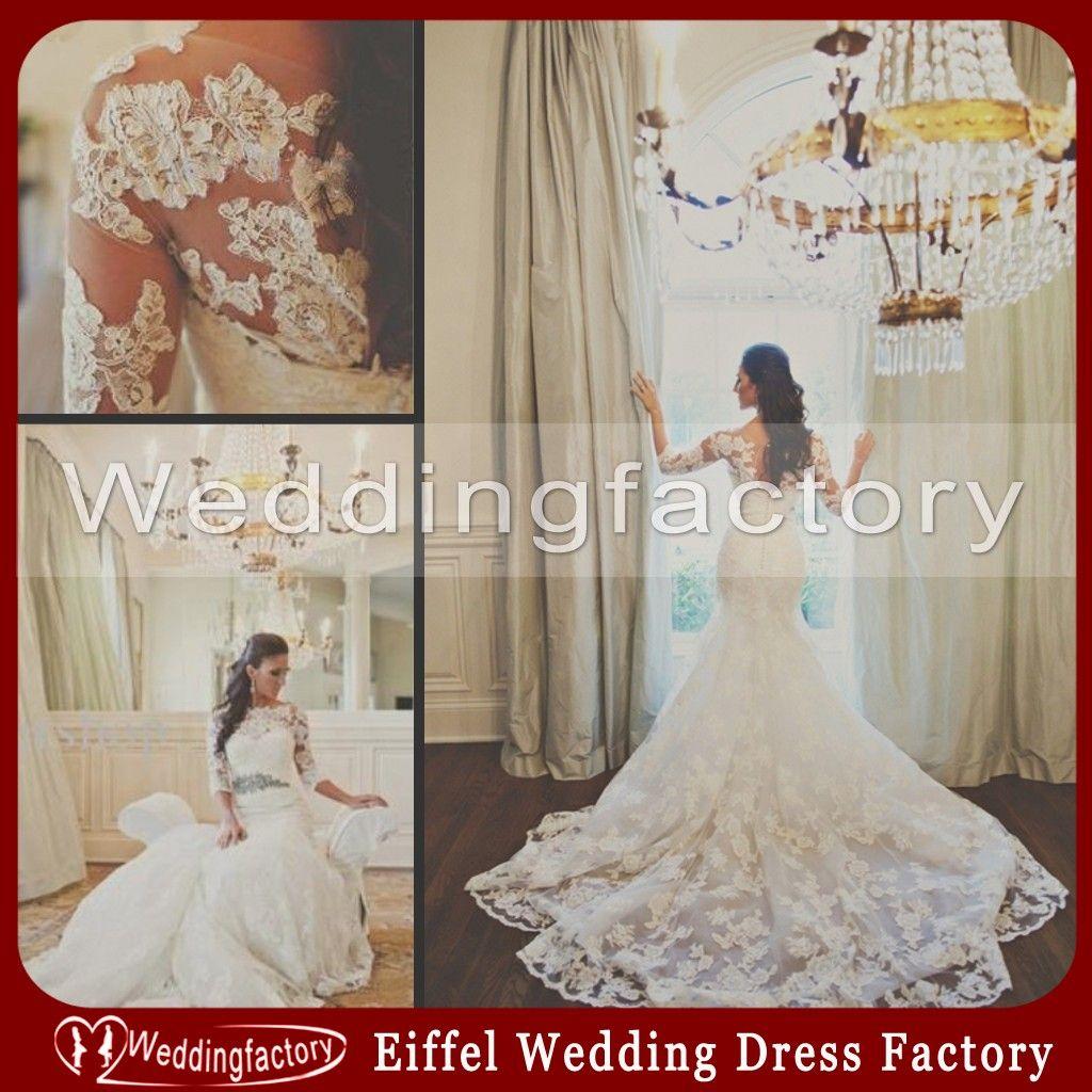 Vintage Lace Wedding Dresses Patterns Spring Bateau Three