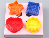Wholesale Cake Cookies Molds Set Love Heart Candy Chocolate Fondant Tools Biscuit Cutter Embossing Moulds