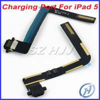 Wholesale For iPad Air White and Black Dock Connector USB Charging Port Flex Cable Replacement Part