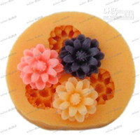 fondant roses - LLFA4416 silicone cake decorations rose buttons mold moulds fondant cake tools Diy silicone molds