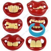 Wholesale New Pacifiers Dummy Baby Teether Pacy Orthodontic Nipples Lips Novelty