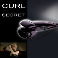 UK Purple Ceramic Curl Secret, Magic Auto Hair Styling Tools, Pro Perfect Curl for Dry Hair, Easy and Protect Your Hair