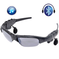 Wholesale Wireless Bluetooth SunGlasses Headset Headphones Handfree For lPhone Samsung HTc