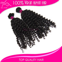 Wholesale Best quality virgin Brazilian human hair extension braids remi bulk hair curly wave for braiding no weft inch inch
