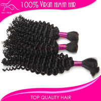 Wholesale Virgin Remy braiding hair bulk deep curly wave Brazilian bulk human hair extension for micro braid hair bundle mix length
