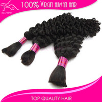 Wholesale Virgin human braiding hair extensions brazilian curly extension for braiding bundles brazilian bulk hair extension quot quot