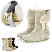 Wholesale New Women s Casual Fashion Bobbin Lace Half Boots Flattie Single Boots Shoes Colors