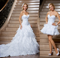Two Pieces Detachable Skirt Bridal Dresses 2014 Backless Sho...