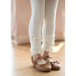 Wholesale 2014 Spring Autumn Children Leggings Korean lacework pure cotton Girls Tights Pants Kids Leggings Pants TS259