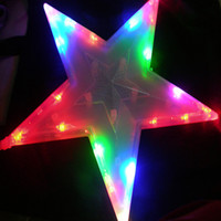 Wholesale New christmas decoration lighting string wedding supplies large five pointed star lights cm