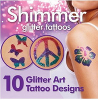 Wholesale Shimmer Glitter Tattoos Creative DIY Water Proof Create Your Own Professional Body Art