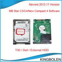 Wholesale New Arrival Latest version for MB Star C3 MB Star Compact C4 MB Star New Compact Dell T30 External HDD can be choosen