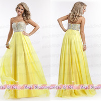 Cheap Low Price Strapless A Line Chiffon Miss Pageant Dress Floor Length Zipper Beads Teen Prom Gown 2014
