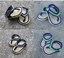 Wholesale Sandalias recién nacidas del ganchillo zapatos de bebé al por mayor envío libre zapatos del niño deslizador del bebé zapatos del descuento zapatos baratos walker shoes pairs