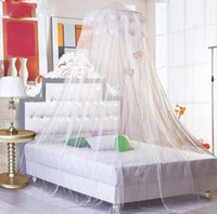 all all Circular Elegant Lace Bed Canopy Mosquito white light yellow pink violet Net Free Shipping