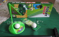 Wholesale New Arrival Potty Putter Toilet Golf Game Ball Mini Golf Set Toilet Golf Putting Green L524