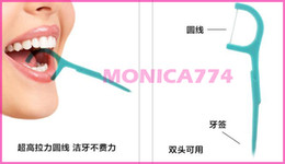 Wholesale Sale Price Bags CM Quality ABS Dental Floss Picks Waxed Teeth Toothpicks Stick Flossers Sword Oral Care MT001