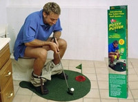 Wholesale Potty Putter Toilet Golf Game Ball Mini Golf Set Toy Toilet Golf Putting Green L524