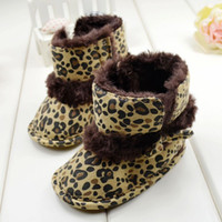 baby leopard boots - 2014 Winter New Arrival Baby First Walker Shoes Fashion Leopard Print Infant Babies Snow Boots M Toddler Boot CM QZ566