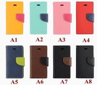New Suicide Price Mercury Leather Phone Cases pour iPhone 4 4s 5 5s Samsung S3 S4 avec slot pour carte avec package de détail 8 couleurs en stock de masse