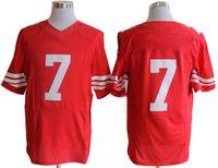 Wholesale Cheap Red Fashion Jersey Mens Football Wears Elite Football Jersey Super Bowl American Football Jerseys Athletic Sportswear Mix Order