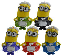 Wholesale Drop Color Factory price GB GB Catoon Minions Despicable Me USB Memory Stick Flash Pen Drive