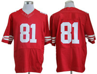 Football Men Short 81 Boldin Red Mens Football Wears Elite Jersey Super Bowl American Football Jerseys Athletic Sport Shirt Fashion Jerseys Newest Discount Hot