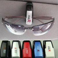 Wholesale 2pcs Fashion Smart Car Vehicle Sunglasses visor clip Eyeglasses Holder