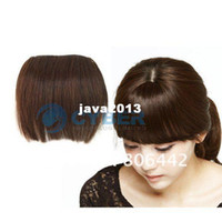 Wholesale New Fashion Girls Clip in Front Neat Bang Fringe Human Hair Extensions Color Dropshipping