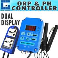 Wholesale PH Dual Display DIGITAL in PH ORP Aquarium CONTROLLER BNC ELECTRODES Redox mV CO2 O3 V V