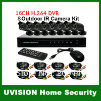 Wholesale Security CH H Standalone Network DVR Outdoor IR Camera CCTV VIdeo System Kit