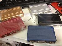 Wholesale Hot Mini Briefcase Business Card Case Coin Case Aluminium Credit Card Holder